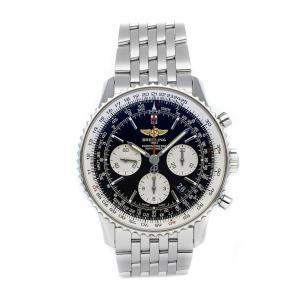 Breitling Black Stainless Steel Navitimer 01 Chronograph AB012012/BB01 Men's Wristwatch 43 MM