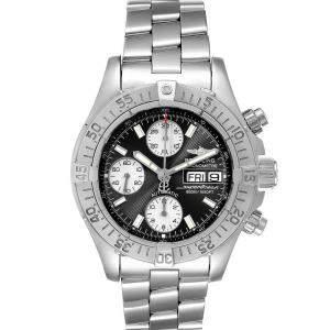 Breitling Black Stainless Steel Aeromarine Superocean A13340 Men's Wristwatch 42 MM