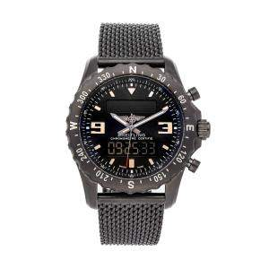 Breitling Black Blacksteel Professional Chronospace M7836622/BD39 Men's Wristwatch 48 MM