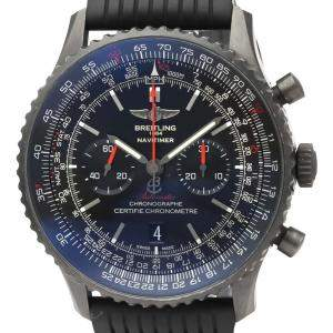 Breitling Black Blacksteel Navitimer Automatic MB0128 Men's Wristwatch 46 MM