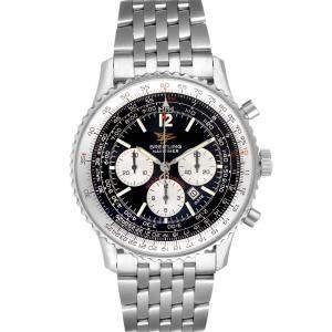 ساعة يد رجالية بريتلينغ نافيتيمر الذكرى السنوية ال50 ايه41322 ستانلس ستيل سوداء 43 مم