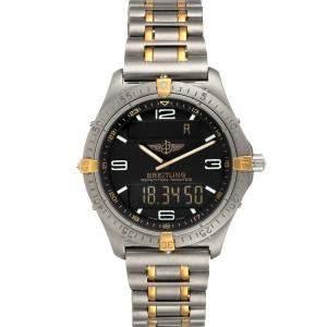 Breitling Grey Titanium Aerospace Advantage Perpetual F65062 Men's Wristwatch 40 MM