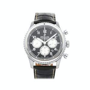 Breitling Black Stainless Steel Navitimer 8 B01 Chronograph AB0117131B1P1 Men's Wristwatch 43 MM