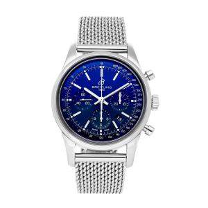 Breitling Blue Stainless Steel Transocean Chronograph Limited Edition AB015112/C860 Men's Wristwatch 43 MM
