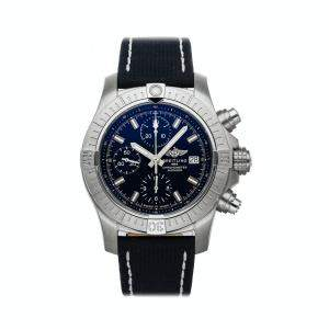Breitling Blue Stainless Steel Avenger Chronograph A13385101C1X1 Men's Wristwatch 43 MM