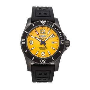 Breitling Yellow Blacksteel Superocean II M17368D71I1S2 Men's Wristwatch 46 MM