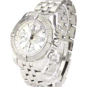 Breitling Silver Stainless Steel Chronomat Automatic A13356 Men's Wristwatch 44 MM