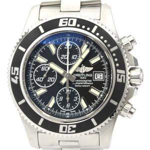 Breitling Black Stainless Steel Superocean A13341 Automatic Men's Wristwatch 44 MM