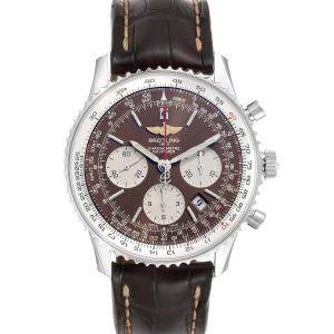 Breitling Brown Stainless Steel Navitimer 01 Panamerican Limited Edition AB0121 Men's Wristwatch 43 MM