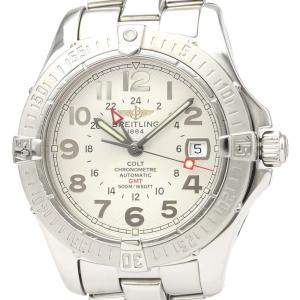 Breitling Silver Stainless Steel Colt A32350 Automatic Men's Wristwatch 40 MM