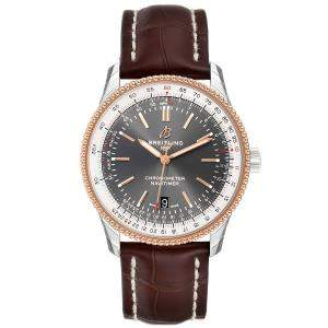 Breitling Grey 18K Rose Gold Stainless Steel Navitimer 1 U17326 Men's Wristwatch 41MM