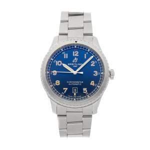 Breitling Blue Stainless Steel Aviator 8 A17315101C1A1 Men's Wristwatch 41 MM