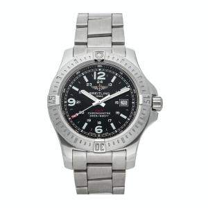 Breitling Black Stainless Steel Colt A7438811/BD45 Men's Wristwatch 44 MM