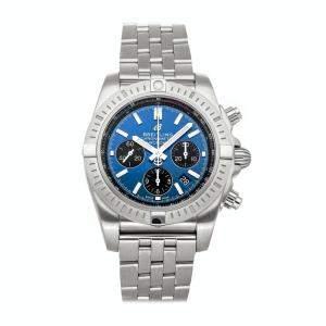 Breitling Blue Stainless Steel Chronomat B01 Chronograph AB0115101C1A1 Men's Wristwatch 44 MM