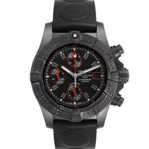 Breitling Black Blacksteel Aeromarine Avenger Skyland M13380 Men's Wristwatch 45 MM