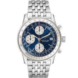 Breitling Blue Stainless Steel Navitimer II A13022 Men's Wristwatch 41.5 MM