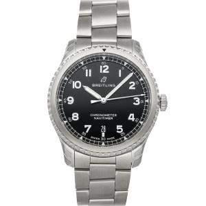 Breitling Black Stainless Steel Navitimer 8 A17314101B1A1 Men's Wristwatch 41 MM