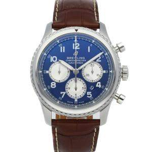 Breitling Blue Stainless Steel Navitimer 8 B01 Chronograph AB0117131C1P2 Men's Wristwatch 43 MM