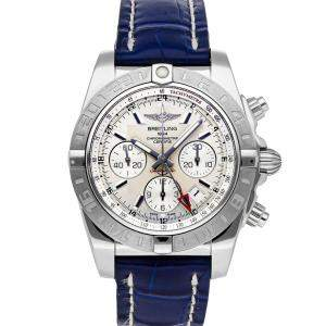 Breitling Silver Stainless Steel Chronomat GMT AB042011/G745 Men's Wristwatch 44 MM