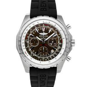 Breitling Grey Stainless Steel Bentley Motors Chronograph A2536212/B814 Men's Wristwatch 48 MM