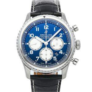 Breitling Blue Stainless Steel Navitimer 8 B01 Chronograph AB0117131C1P1 Men's Wristwatch 43 MM