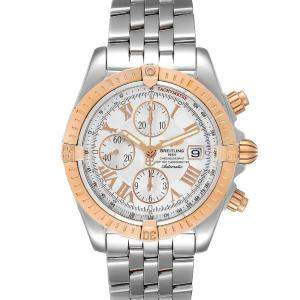 Breitling Silver 18K Rose Gold And Stainless Steel Chronomat Evolution C13356 Men's Wristwatch 44 MM