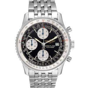 Breitling Black Stainless Steel Navitimer II Chronograph A13322 Men's Wristwatch 42 MM