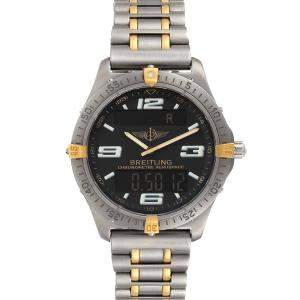 Breitling Black Titanium Aerospace Advantage Perpetual F75362 Men's Wristwatch 40 MM