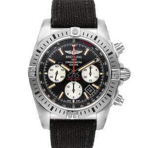Breitling Black Stainless Steel Chronomat Airborne AB01154G/BD13 Men's Wristwatch 44 MM