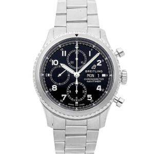 Breitling Black Stainless Steel Navitimer 8 Chronograph A13314101B1A1 Men's Wristwatch 43 MM