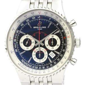 Breitling Black Stainless Steel Navitimer Montbrillant A23351 Automatic Men's Wristwatch 47 MM