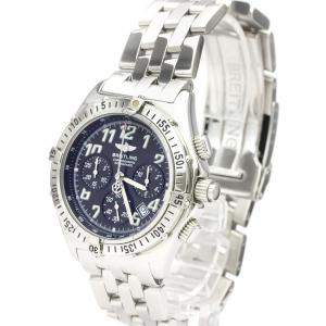 Breitling Black Stainless Steel Chronoracer Rattrapante A69048 Chronograph Men's Wristwatch 39 MM