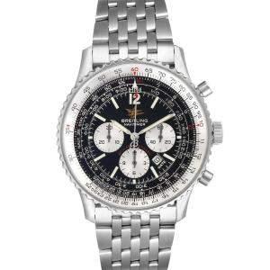 Breitling Black Stainless Steel Navitimer A41322 Men's Wristwatch 43 MM