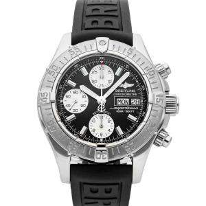 Breitling Black Stainless Steel Superocean Chronograph A1334011/B683 Men's Wristwatch 42 MM