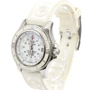 Breitling White Stainless Steel Super Ocean ll A17312 Automatic Men's Wristwatch 36 MM