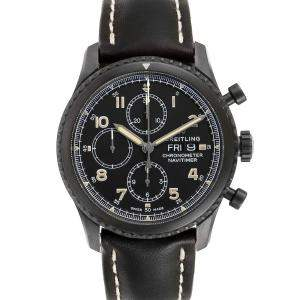 Breitling Black Blacksteel Navitimer Chronograph A13314 Men's Wristwatch 43 MM