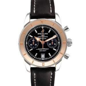 Breitling Black 18K Rose Gold And Stainless Steel SuperOcean Heritage U23370 Men's Wristwatch 44 MM