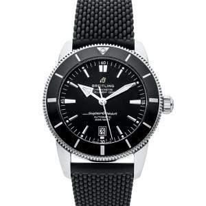 Breitling Black Stainless Steel Superocean Heritage B20 AB2020121B1S1 Men's Wristwatch 46 MM