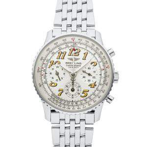 Breitling Silver Stainless Steel Navitimer Twin Sixty 2 A39022.1 Men's Wristwatch 41 MM