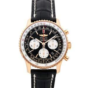 Breitling Black 18K Rose Gold Navitimer 01 Chronograph RB012012/BA49 Men's Wristwatch 43 MM