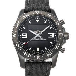 Breitling Black Blacksteel Chronospace Military M78367101B1W1 Men's Wristwatch 46 MM