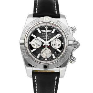 Breitling Black Stainless Steel Chronomat B01 AB011011/B967 Men's Wristwatch 44 MM
