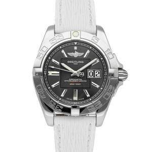 Breitling Grey Stainless Steel Galactic A49350L2/F549 Men's Wristwatch 41 MM