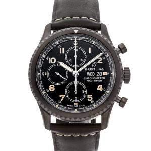 Breitling Black Blacksteel Navitimer 8 Chronograph M13314101B1X1 Men's Wristwatch 43 MM