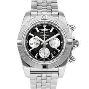 Breitling Black Stainless Steel Chronomat AB011011/B967 Men's Wristwatch 44 MM