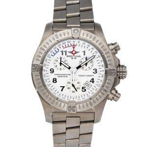 Breitling White Titanium Avenger Chrono M1 E7336009/A552 Men's Wristwatch 44 MM