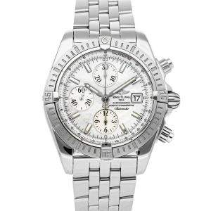 Breitling White Stainless Steel Chronomat Evolution A1335611/A569 Men's Wristwatch 43 MM