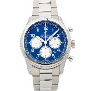 Breitling Blue Stainless Steel Navitimer 8 B01 Chronograph AB0117131C1A1 Men's Wristwatch 43 MM
