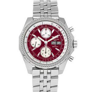 Breitling Red Stainless Steel Bentley GT Special Edition A1336212/K506 Men's Wristwatch 44 MM