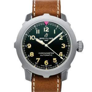 Breitling Green Titanium Aviator Super 8 B20 EB2040101L1X1 Men's Wristwatch 46 MM